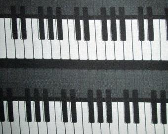 Music Piano Keyboard Black White Cotton Fabric Fat Quarter or Custom Listing