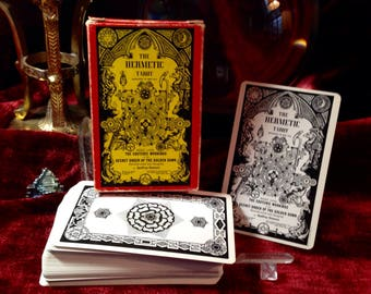 The Hermetic Tarot -First Edition- 1979 - vintage unused tarot deck based on the esoteric workings of the Secret Order of the Golden Dawn