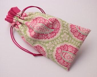 Pink Paisley Tarot Bag with Pink Trim, Medium