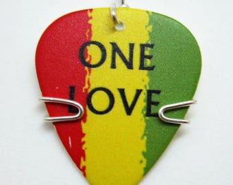 One Love Guitar Pick Pendant