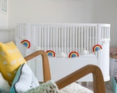 Rainbow and clouds Crochet Garland