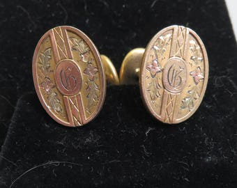 Antique Initial G Cuff LInks