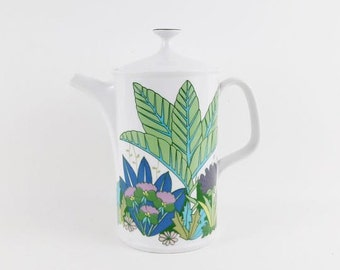 Vintage Tea Pot with Jungle Pattern by German Arzberg