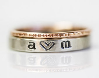 Initial / Initials Ring / Personalized / Mothers Day Gift / Love Gift / Anniversary Gift / Wife Gift / Girlfriend Gift / Gift for Her /