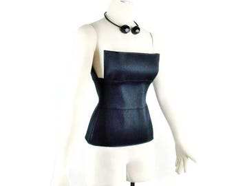 Vintage YVES SAINT LAURENT By Tom Ford Bandage Corset Top Size  4-6   Small