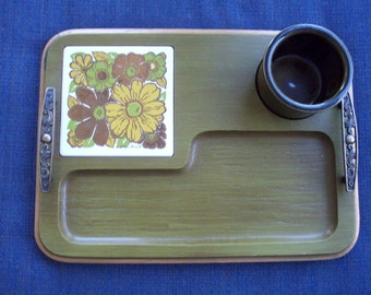 Olive Green Georges Briard Cheese Tray
