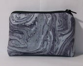 """Pipe Pouch, Psychedelic Grey Bag, Pipe Case, Pipe Bag, Glass Pipe Cozy, Padded Pipe Pouch, Zipper Bag, Trippy, Stoner, Smoke Bag - 4"""" MINI"""