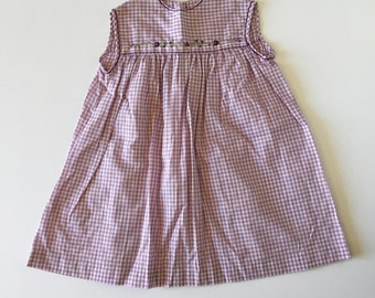 1960's Purple Gingham Sun Dress (6x)