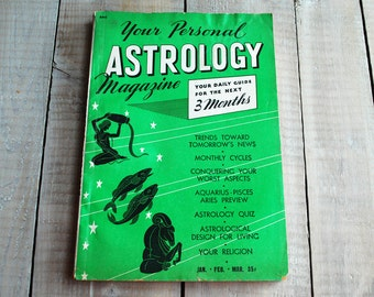 Your Personal Astrology Magazine, January February March 1952 Issue, Capricorn Aquarius Pisces, 65th birthday