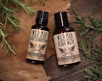 SALE! Beard Gift Set - TWO PACK - Beard Oil Conditioner + Wash Grooming Kit for Him