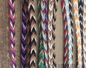 Three Color - Chevron Hemp Anklets - Kids to Adult sizes