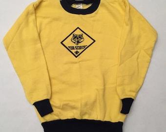 Vintage Cub Scout Ringer Crew Neck Sweatshirt