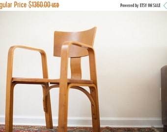 HOLIDAY SALE 10% OFF Unique Vintage 1940s Thonet Bent Plywood Chair