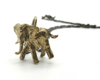 elephant necklace, animal jewelry, elephant jewelry, charm, pendant, gold necklace, gift for her, gift for daughter, new year 2017