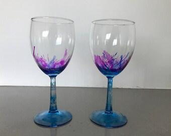 Colorful Wine Glasses (2)