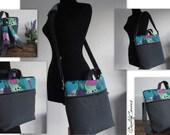 Customizable Convertible Laptop Backpack - 4 ways of worn: BACKPACK laptop bag; MESSENGER bag; BRIEFCASE bag; Tote bag - Fully padded