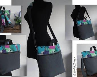 Convertible Laptop Backpack - 4 modes of worn : BACKPACK laptop bag; MESSENGER bag; BRIEFCASE bag; Tote bag-Fully padded - Waterproof lining