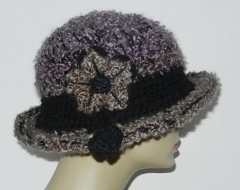 Ladies Bowler - Hand Crocheted