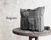 ON SALE 20%OFF Bailey // Dark Grey / Lined with Dark Grey / 021 // Ship in 3 days // Messenger / Diaper bag / Shoulder bag / Tote bag / Purs