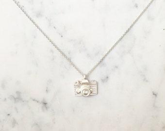 Camera Pendant Necklace ~ Silver