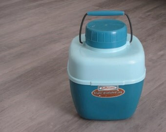 Vintage Teal / Turquoise / Blue Lustroware Insulated Jug / Camping Water Jug