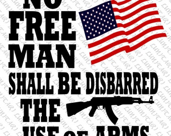 Pro American 2nd Amendment SVG and PNG instant digital download