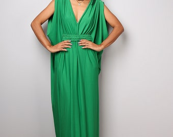 Maxi dress, green dress, empire dress, long green dress, sleeveless dress, tube dress: Funky Elegant Collection no 40