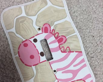 Jungle Jill - Switch Plate - Light Switch - Wooden - Hand Painted