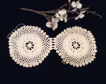 Vintage Small Crocheted Cotton Doily Perfect for Sachet Bag, Vintage Linens