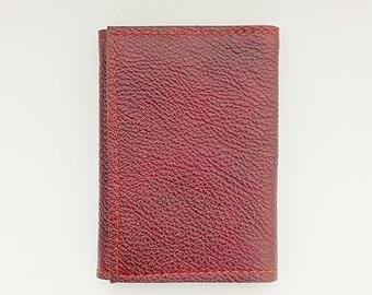 Leather wallet, credit card wallet, folding wallet, minimalist wallet, simple wallet