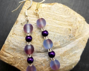 Purple Haze Dangle Earrings