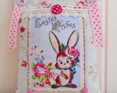Cute Retro Inspired Easter Decoration/Door Hanger