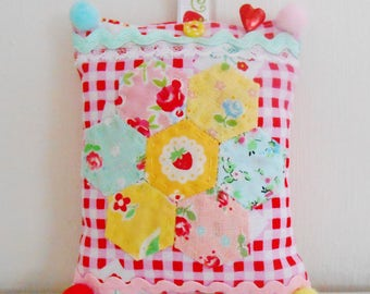 SALE  Colourful Patchwork Pincushion