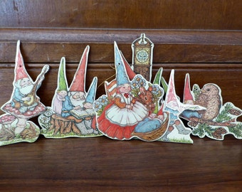 Gnome Pixie Elf 16 Merrimack Tags, Gnome Gift Tags Ornaments