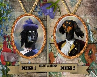 Saluki Jewelry/Saluki Pendant/Saluki Brooch/Saluki Necklace/Porcelain Jewelry/Custom Dog Jewelry By Nobility Dogs