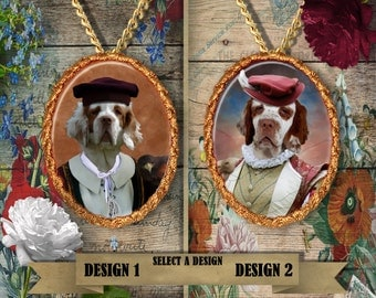 Clumber Spaniel Jewelry Clumber Spaniel Dog Pendant Clumber Spaniel Charm Clumber Spaniel Gift Clumber Brooch Custom Dog Porcelain Jewelry