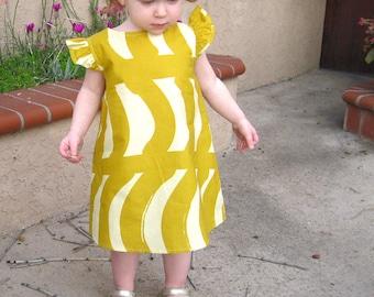 Marimekko girls dress • Girls yellow summer dress • Marimekko clothing • Toddler A-line dress • Marimekko Rautasänky • Toddler girls dress