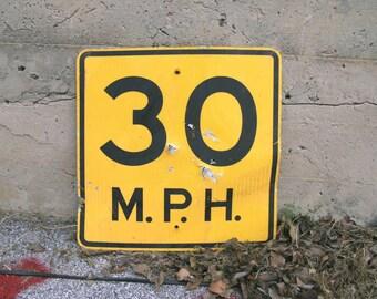 speed limit sign traffic road sign 30 birthday anniversary gift shot gun hole redneck party garage restaurant wall hanging target practice