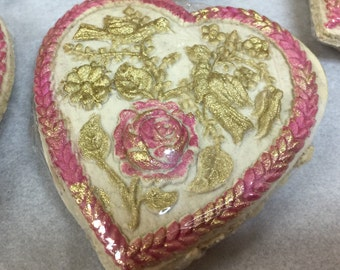 Special Edition Heart Springerle with edible luster dust