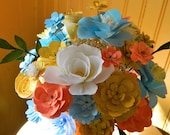 Painted Papers - Pastel Mason Jar  Paper Flower Bouquet - Gifts, Baby showers, weddings, parties