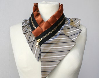 Women's accessories, silk collar necklace, silk scarf necklace, silk collar, women's collar, bib necklace, burning man accessory #213