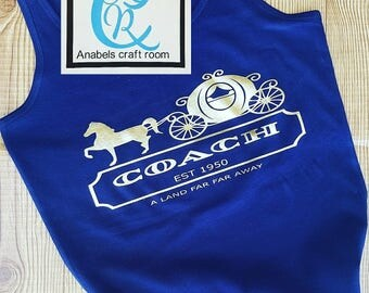 Disney Coach, Cinderella, princess, tank top,A land far away.