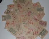 50 Vintage Fortunes from Swami Carnival Machine paper art scrapbook supplies ephemera