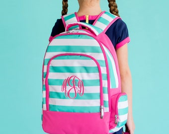 Personalized Skylar Stripe Backpack - Monogrammed Backpack - Patterned Book Bag ~ Monogrammed Book Bag ~ FREE Personalization ~ Quick Ship