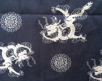 Dragon of Heaven Bandana - Headscarf - Chinese Dragon - Scull Cap - Scullcap - Blue Scarf Scarves