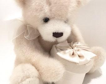 Gund Teddy Bear Gift Box - Stuffed Bear - Plushie Bear Plush - Baby Shower Gift - Newborn Baby Nursery Decor Vintage