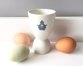 Royal Canadian Air Force Egg Cup - Double Egg Cup Vintage - Duck Egg Cup - Ironstone Vintage Egg Cup Restaurant Ware