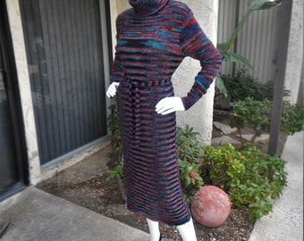 Vintage 1980's Total Eclipse Knit Dress - Size 12