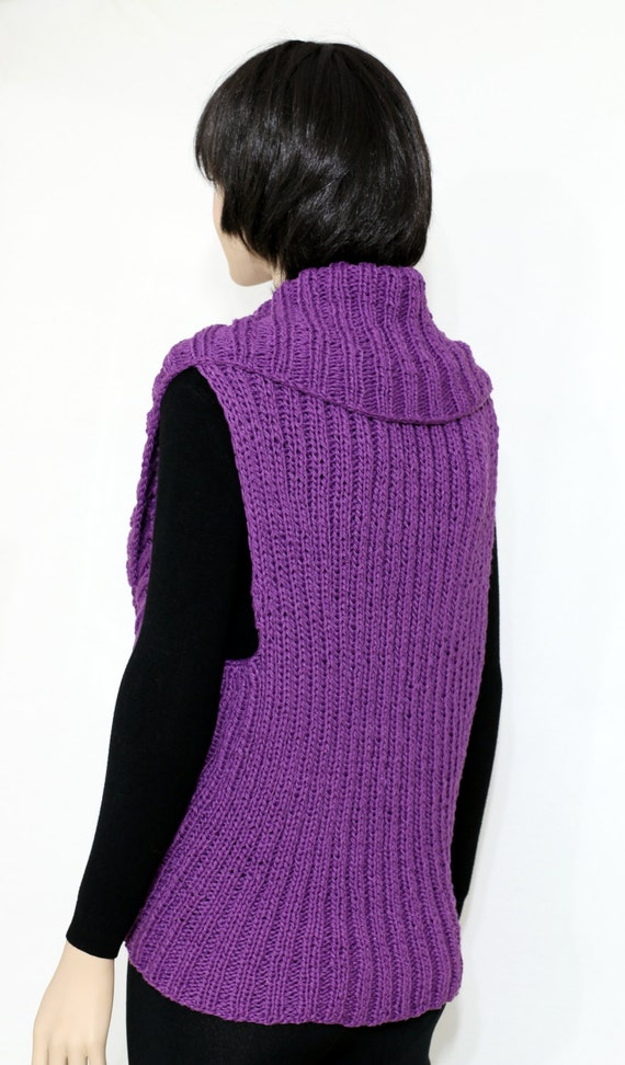 knit Vest shrug pattern PDF Knit Vest Pattern Womans Vest Pattern from e...
