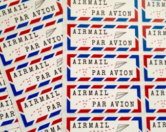 Airmail stickers 80 pcs (thick edge)